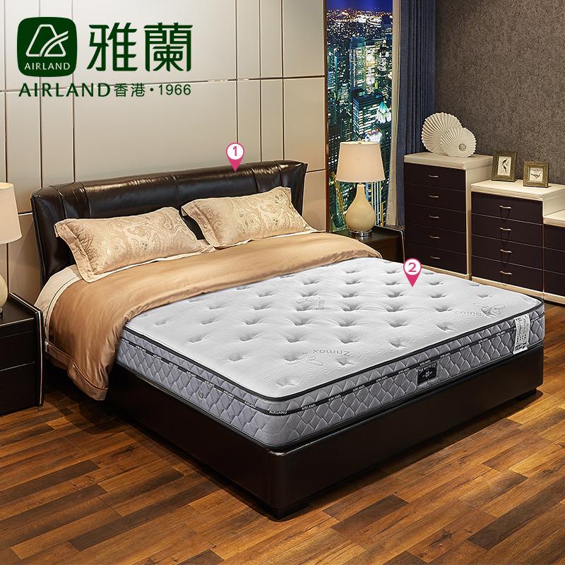 雅兰卧室床垫套餐1.8m小白+欧式伊丽莎白聚